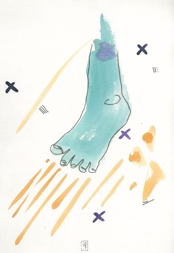 Ugne Balciunaite Limbs September '16   #Watercolor, #ink