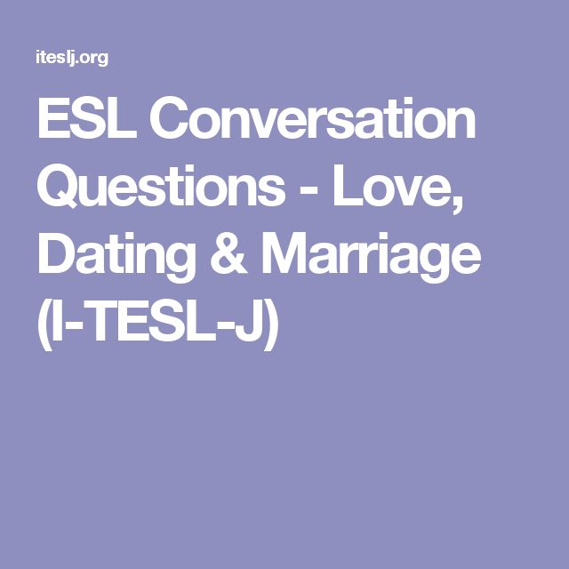 Conversation questions about online dating
