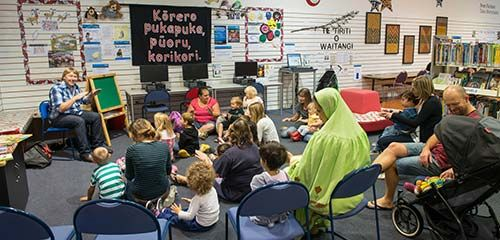 Storytimes / Wā Kōrero - stories, music, movement and rhymes for children over two years old