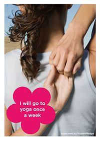 I will go to yoga once a week @BupaAustralia #health #pledge #yoga #iloveyoga