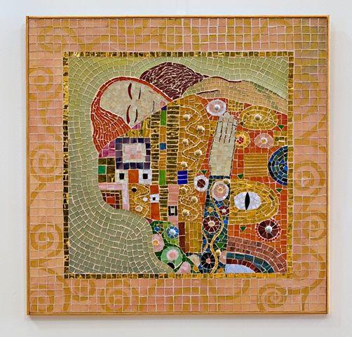 the embrace mosaic gustav klimt adapation - Fantastisch Mosaik Flie