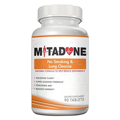 Mitadone No Smoking & Lung Cleanse 2 in 1 Anti Smoking Pills Curbs Nicotine Addiction|Cleanses Respiratory System|Helps Quit Smoking|Controls Cravings & Symptoms|Nicotine Free (90 Count)