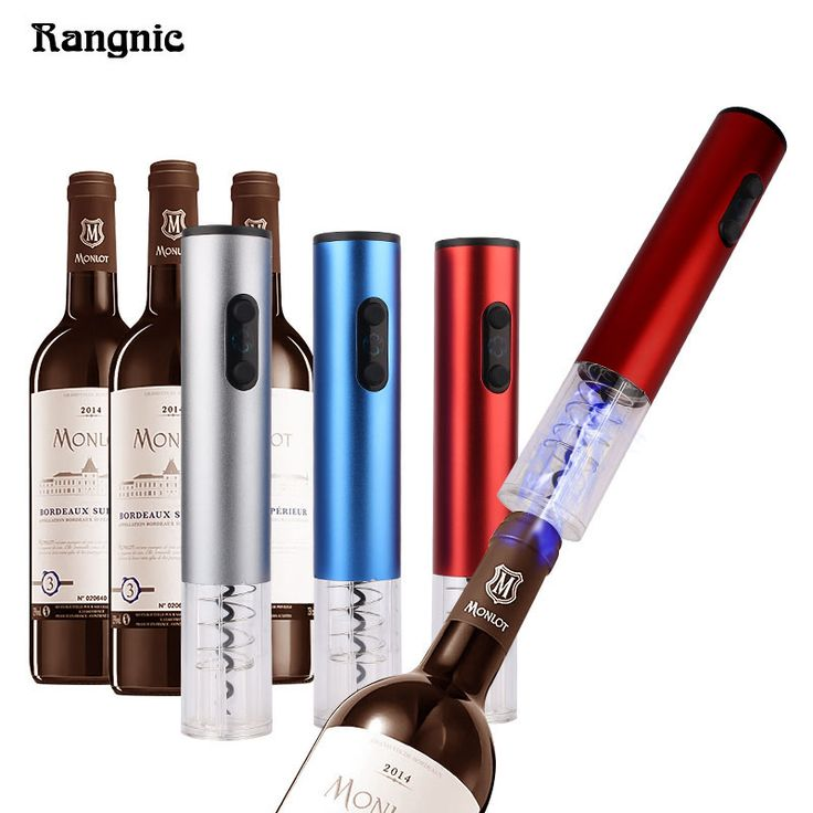 Pro Electric Corkscrew Screwpull Wine Bottle Opener With Free Foil Cutter Stainless Steel Without Battery P30