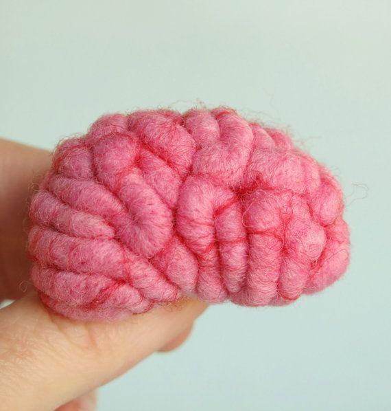 Brain Brooch by Your Organ Grinder