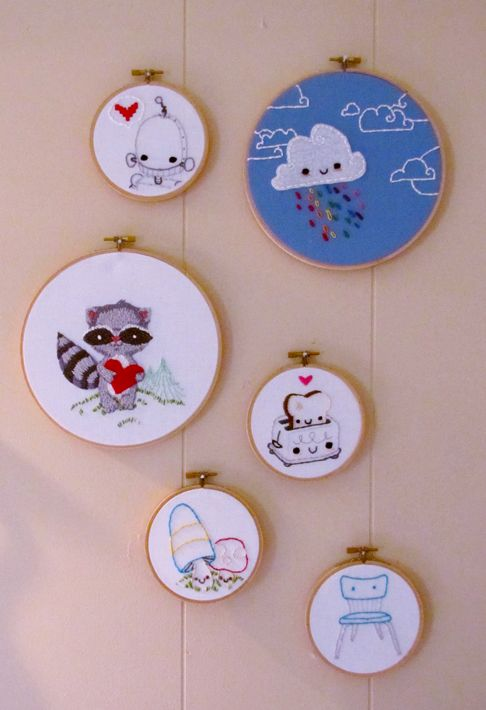 """What a cute idea for decorating! I can easily iron on some of my art, or use puff paints! Whether it's photos, cartoons, or art, it's a great way to decorate without """"stuff."""""""