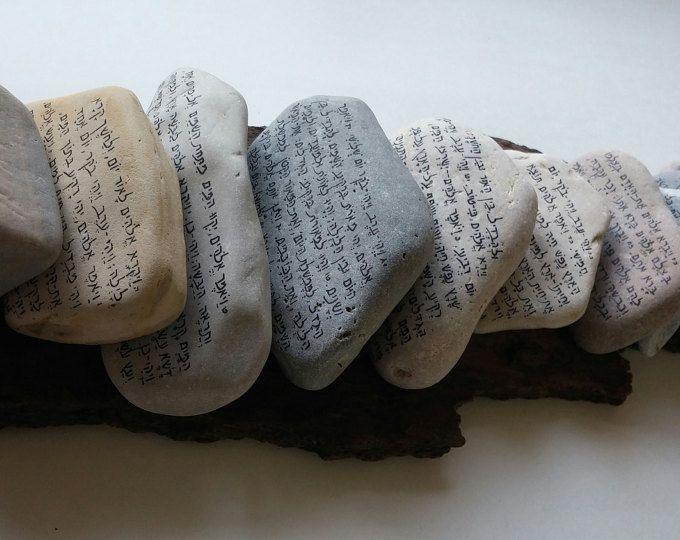 Regalo de Judaica, piedras naturales, tradición judía, regalos de boda judía, hecho a mano en Israel, arte judío, regalo de inauguración de la casa, obras de arte originales