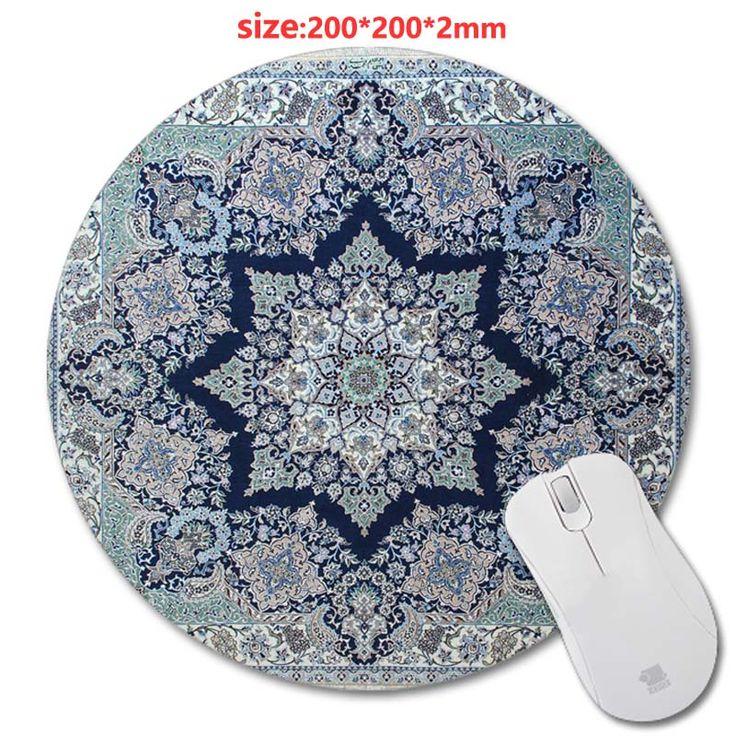 200 * 200 * 2 мм персидский ковер круговой резиновый коврик для мыши PC mputer игры коврик для мыши ткань + резиновый материал платье-аксессуар и подарок
