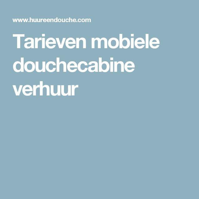 Tarieven Mobiele Douchecabine Verhuur