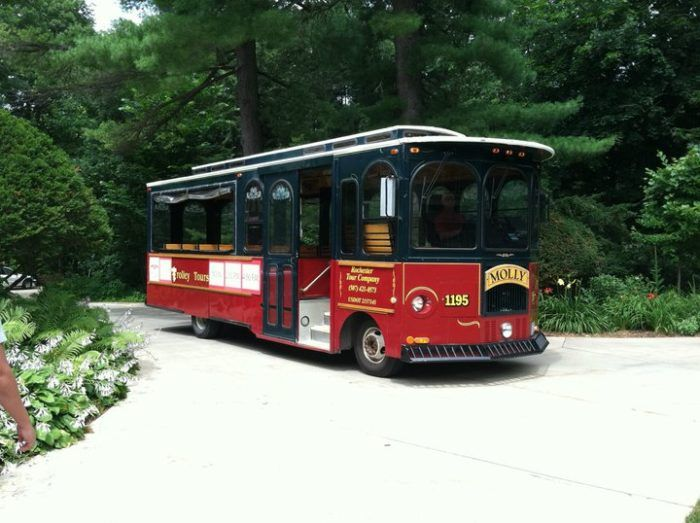 This wine trolley is a new tour offered by the Rochester Trolley and Tour Company.