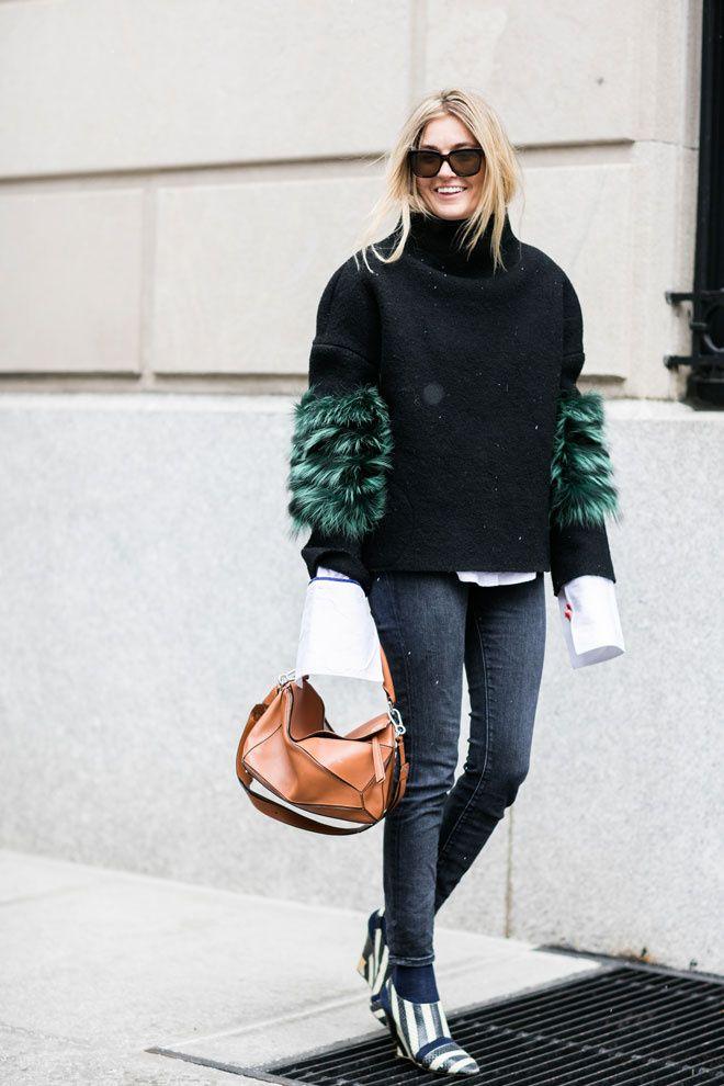 Camille Charrière à la Fashion Week