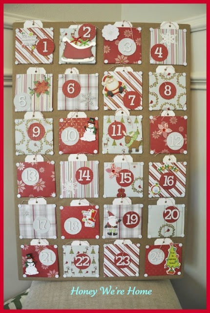 Honey We're Home: DIY Advent Calendar - I'm doing this next year!