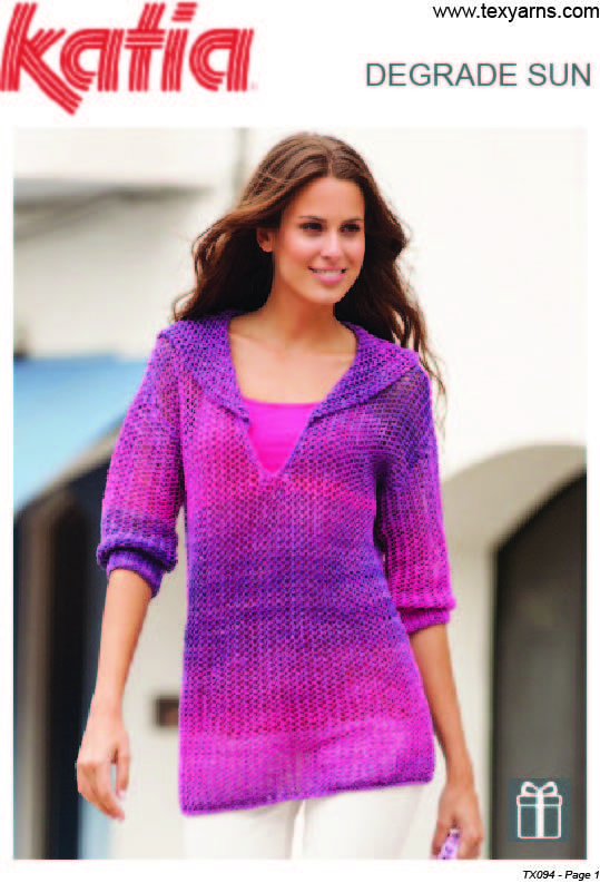 Found this hand knitted yarn at http://www.texyarns.com/degrade-degrade-sun-sweater-with-collar/
