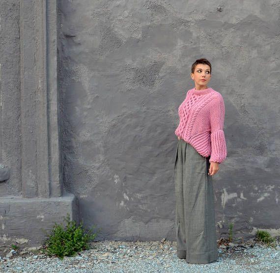 Strickpullover Grobstrick Pullover Pullover übergroße