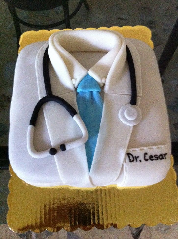Pastel de bata de Doctor