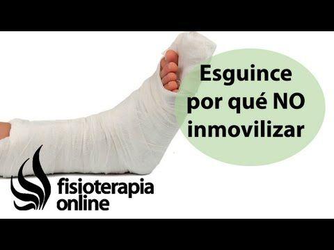 Por qué no inmovilizar un esguince de tobillo.   http://www.fisioterapia-online.com/articulos/por-que-no-inmovilizar-un-esguince-de-tobillo-y-que-hacer-para-su-tratamiento