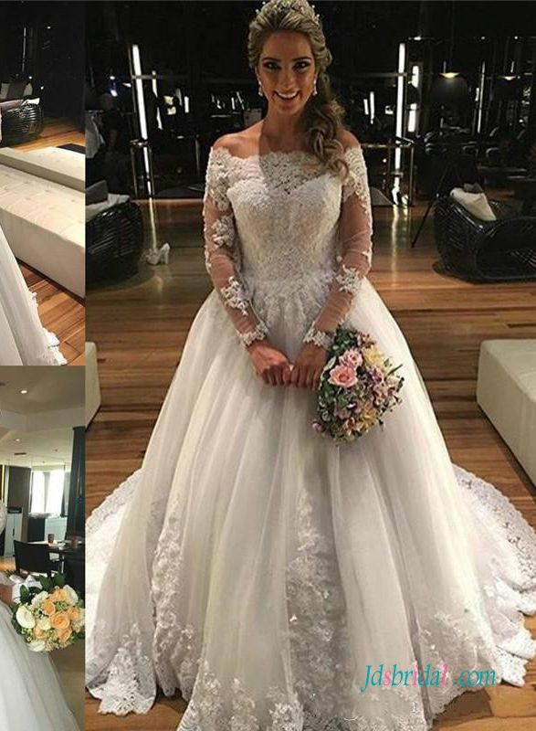 1c1fb698816e Off shoulder princess tulle ball gown wedding dress | Ball Gown ...