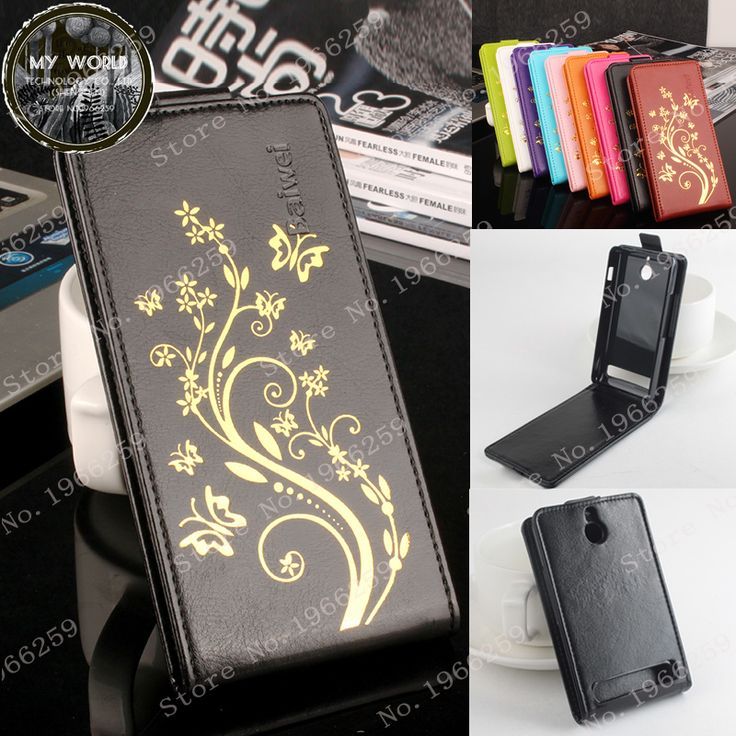For Sony Xperia E1 D2004 D2005 E1 Dual D2104 D2114 D2105 Case Luxury Hot stamping Crazy Horse Skins Leather vertical flip cover