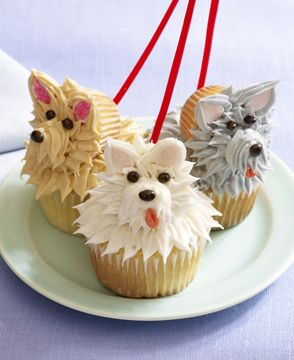 Cutest Dog cupcakes!! from the book Hello, Cupcake! love them