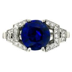 1STDIBS.COM Jewelry & Watches - Kashmir Sapphire and Diamond Ring - Berganza