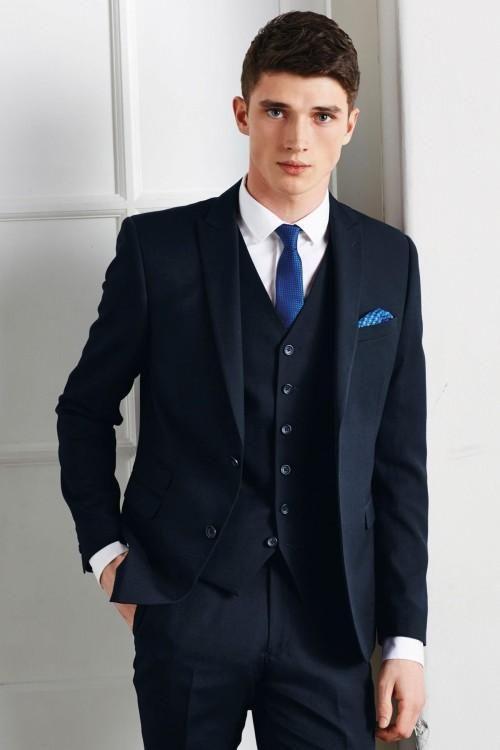 White Suits For Men Navy Blue Men Wedding Suits Peaked Lapel Grooms Tuxedos Three Piece Prom Mens Suits Slim Fit Two Button Groomsmen Suit Jacket+Pants+Vest+Tie Mens Prom Suits From Wangzhezhijia686, $76.43| Dhgate.Com