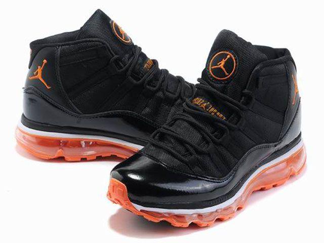 Air Jordan 11 Max Women Black Orange
