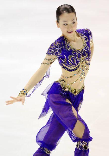 Mao Asada Purple Figure Skating / Ice Skating dress inspiration for Sk8 Gr8 Designs.
