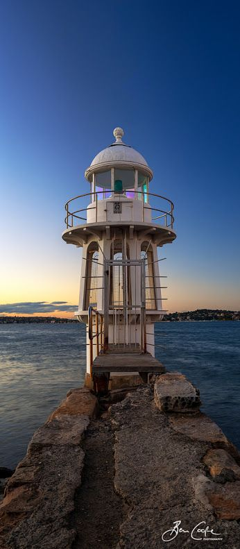 ♖ Robertson Point Light, aka Cremorne Point Light, is an active lighthouse in Cremorne Point, a suburb on the lower North Shore of Sydney, New South Wales, Australia.