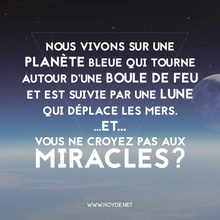 ... Lune #Miracles #Citation #Citations #Esprit | Pinterest