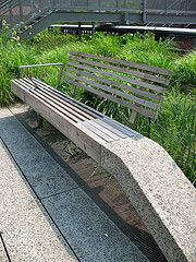 High Line, NYC: bench (Vilseskogen) Tags: park new york city nyc railroad urban usa green abandoned public train garden high track gardening space creative commons line use restored elevated planting alternative raised vilseskogen