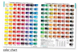Watercolor Chart For Daniel Smith Paints Art Color