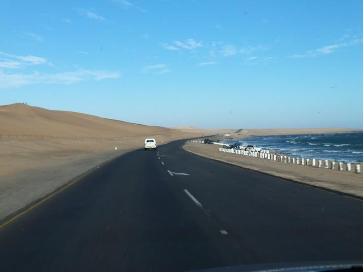 road between Swakopmund & Walvis Bay