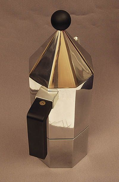 Aluminium coffeepot design Aldo Rossi for Alessi / Italy 1984 unmarked most probably prototype or shop model