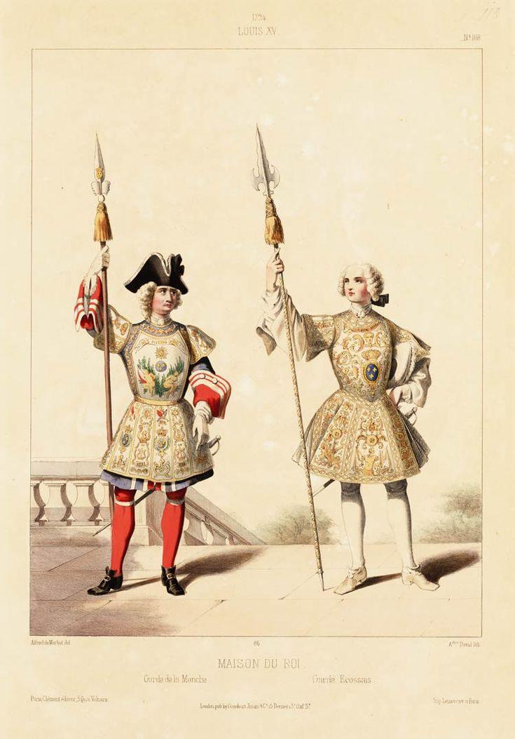 1724 louis xv maison du roi garde de la manche garde for Ancienne maison des gardes lourmarin france