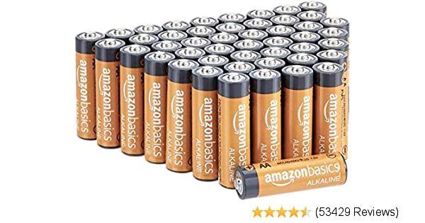 Amazonbasics Aa Batteries 48 Count Alkaline Battery Batteries Alkaline