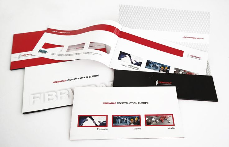 ThinkBAG designed and printed the company profile and the folder of Fibrwrap Construction Europe