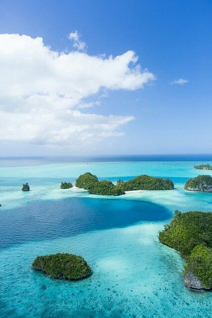 The sea of Palau Island