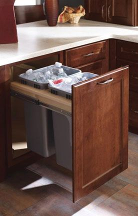 The Double Full Height Waste Basket Base Cabinet Is A Favorite Of Theresa S It Conveniently Hides Garbage Cans And Frees Up E In Kitchen