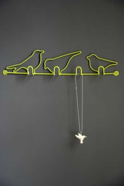 Cool Wall Hooks and Creative Coat Racks -3 little birds...cause every little thing is gonna be all right!