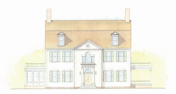 Connor Homes, inspired by examples from the Winterthur Library and buildings on the estate.