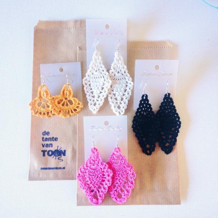 Crochet earrings   Crochet Earring   Gehaakte oorbellen   Oorbellen   De tante van Toon