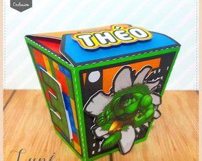 Caixa Sushi Lego heróis | Lunê Papelaria Criativa | Elo7