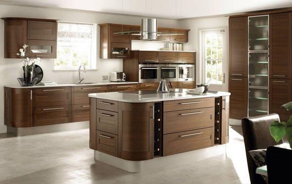 Brownish kitchen interior decor design.