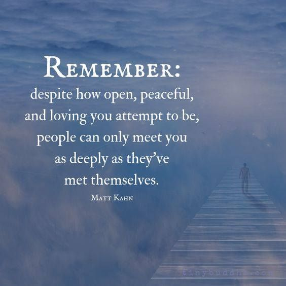 Remember, despite how open, peaceful, and loving you attempt to be, people can only meet you as deeply as they've met themselves. Matt Kahn. #westcoastaromatherapy #learnaromatherapy #learnaboutessentialoils #aromatherapycourses #aromatherapyschool #1iloveessentialoils #essentialoils4everyone