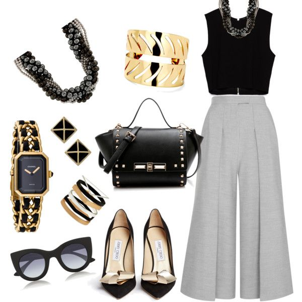 A fashion look from September 2015 featuring Zara tops, Whistles capris and Jimmy Choo pumps. Browse and shop related looks.