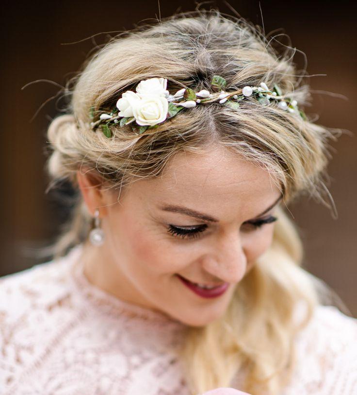 Haarbänder – L22 Brauthaarschmuck Rosen Blütenkranz Blumenband – ein Designers…