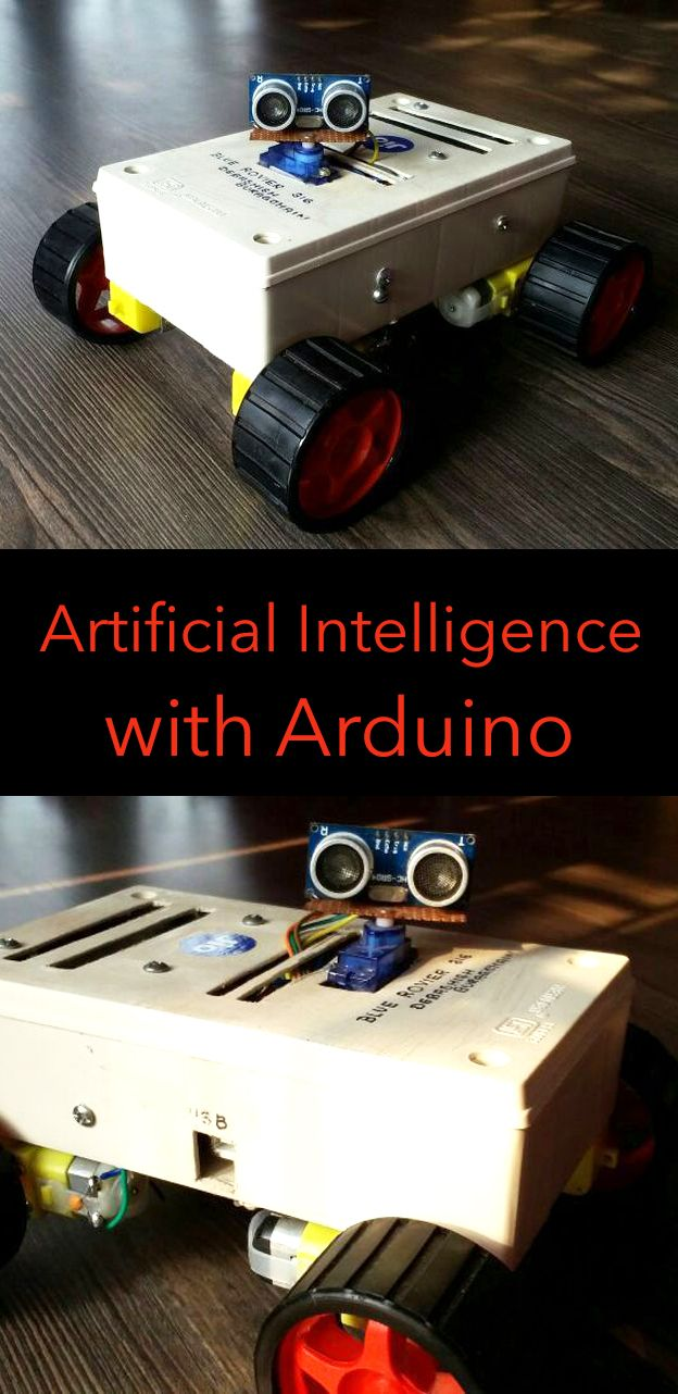 This robot was mainly built for understanding artificial intelligence with Arduino. It is capable of, obstacle avoidance, voice control, chatting with humans, Bluetooth control as well as gesture control.