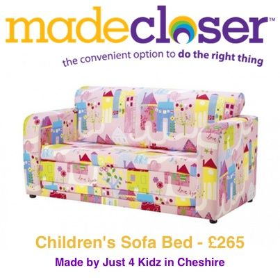 Product of the Week: Children's Sofa Bed made by Just 4 Kidz in Cheshire