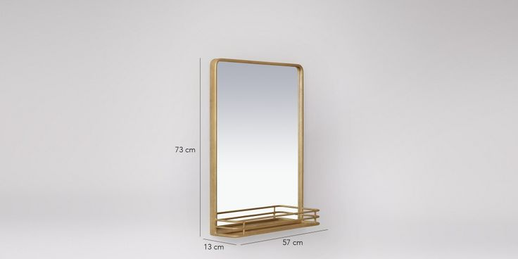 Rayla Mirror In Antique Brass