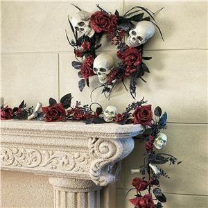 Skulls and Roses Garland and Wreath