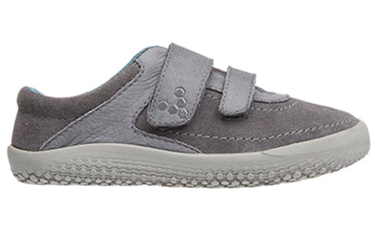 Vivobarefoot  RENO K Leather Grey (1)
